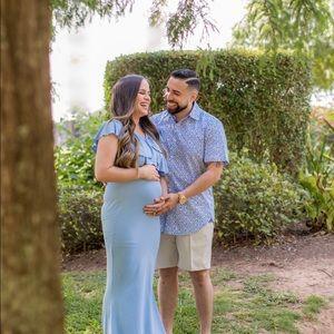 Maternity light blue dress